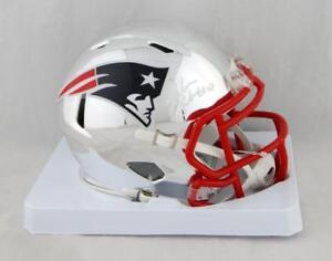 Josh-Gordon-Autographed-NE-Patriots-Chrome-Mini-Helmet-JSA-W-Auth-Whit