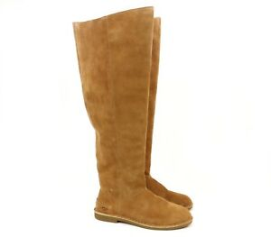 873b3bdaa76 UGG Australia LOMA OVER THE KNEE Chestnut Tall Suede Boots 1095394 ...