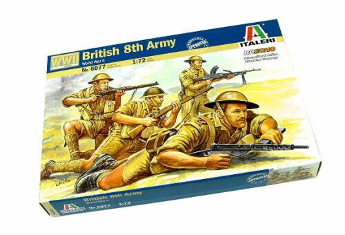 ITALERI Military Model 1//72 Soldiers World War II British 8th Army 6077 T6077