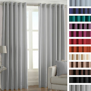 Faux-Silk-Luxury-Thermal-Coated-Pair-of-Eyelet-Ring-Top-Ready-Made-Curtains