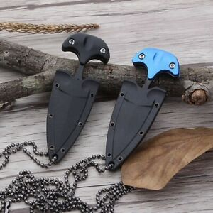 New Military Fixed Blade Hanging Neck Knife W Sheath Survival Tactical Hunting