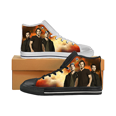 supernatural mens custom sneakers high top canvas casual