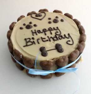 Image Is Loading DOG BIRTHDAY CAKE ANY NAME PEANUT BUTTER Treat