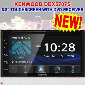 Renewed Kenwood DDX5707S 6.8 Digital Media Receiver with Apple CarPlay and Android Auto