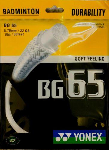 Yonex BG65 Badminton String White//Yellow