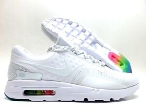 NIKE AIR MAX ZERO QS WHITE WHITE-PURE PLATINUM SIZE MEN 12  789695 ... b732787f8