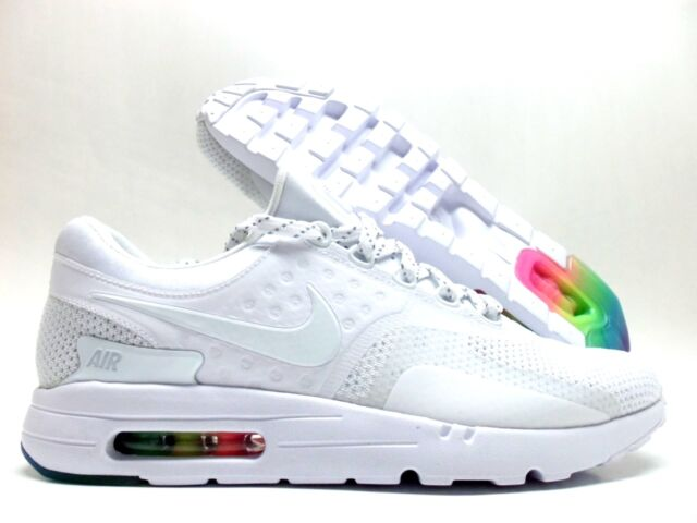 finest selection bcb5d b1861 NIKE AIR MAX ZERO QS WHITE WHITE-PURE PLATINUM SIZE MEN 12  789695