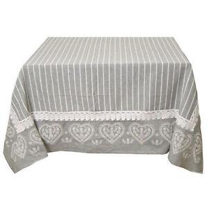 Tovaglia rettangolare cotone stile shabby chic tavolo for Tovaglie shabby
