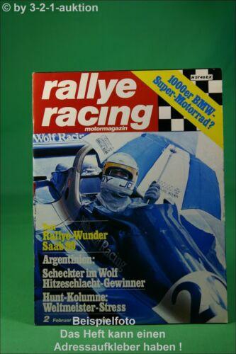 Poster Rallye Racing 2//77 Saab 99 BMW 2002 AC ME 3000