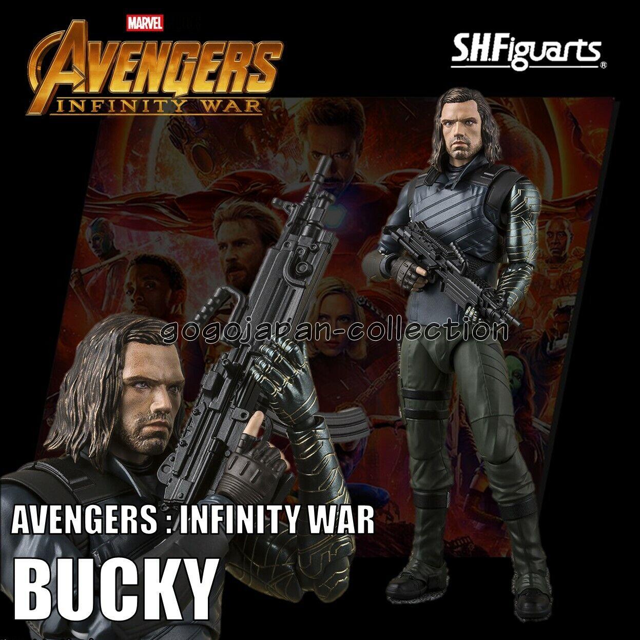 Bandai S.H. Figuarts figura de los Vengadores Infinito guerra Bucky