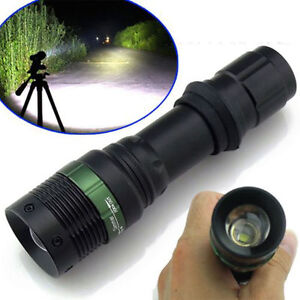 High Power 5000Lumen Zoomable LED Flashlight Torch Zoom Light Adjustable Bright