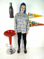 WOMENS VINTAGE 90'S CUTE FLORAL PATTERNED OVERSIZE LOOSE FIT BLOUSE SHIRT 10