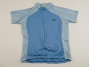 Pearl-Izumi-Womens-Cute-Blue-Cycling-Bike-Jersey-Size-Large-Cycle-Shirt-Zip-MTB