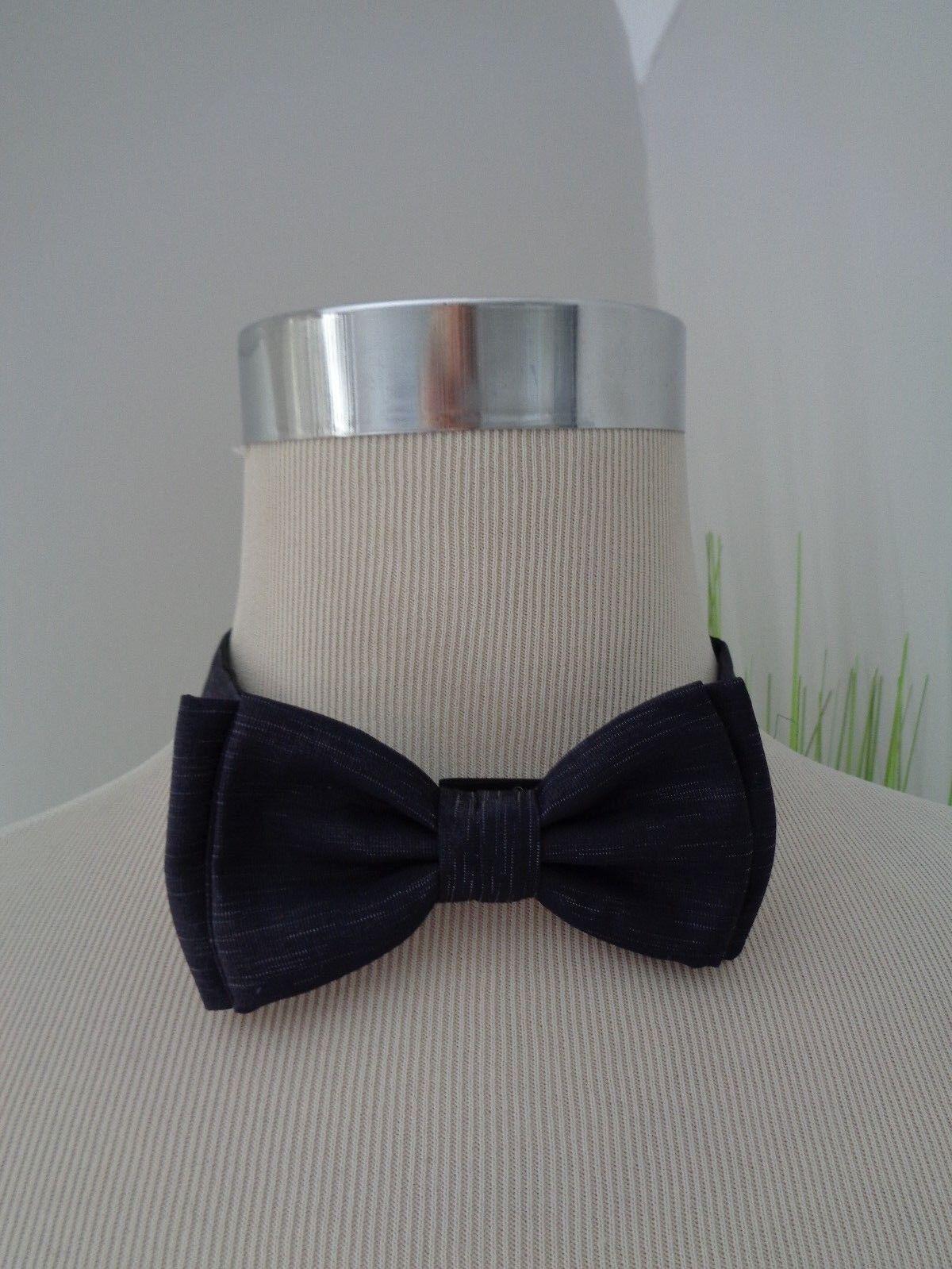 941f4734c679 Hugo Boss Italian Silk & Wool Dark Blue Bow Tie. Gift Idea Prom Save for  sale online | eBay