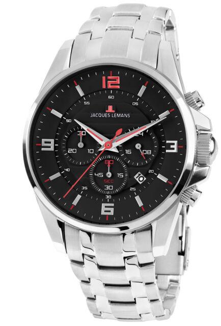 b8580fdeb1bc Jacques Lemans Reloj de Pulsera para Hombre Cronógrafo Liverpool Chrono 1 -1799L