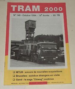 TRAM-2000-N-148-Octobre-1994-TRAMWAY-AUTOBUS-STIB-TEC-GAND-la-saga-DUWAG