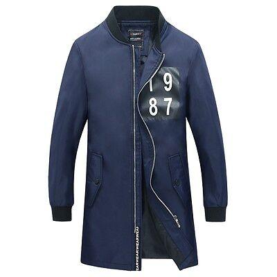 Men's Jacket Warm Winter Collar Casual Long Trench Coat Overcoat Windbreaker New