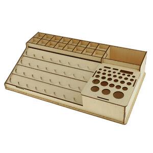 Farbstaender-Pinselstaender-Holzstaender-fuer-Aufbewahrung-Modellbau-Werkzeug