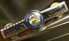 Aviation Unit Tie Bar Pin Clip State Of Indiana Silver Tone Brand New Uniform