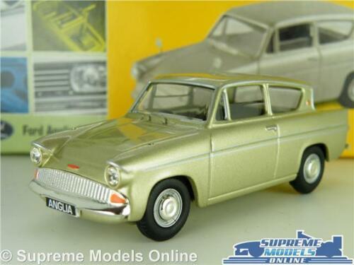 FORD ANGLIA SUPER MODEL CAR 1:43 SCALE VANGUARDS VA00121 GOLD METALLIC 105 K8