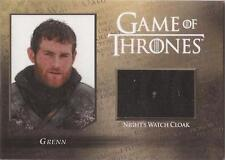 "Game of Thrones Season 5 - CC3 ""Grenn"" Night Watch Cloak Relic Card #217/250"