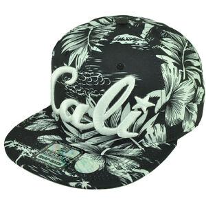 9929de7be1454 Cali California All Over Hawaiian Floral Hat Cap Nylon Snapback BLK ...