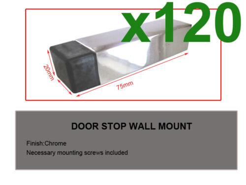 Builders!wholesaler!resell!120pcs Door Stop Door Stoppers Chrome 1975