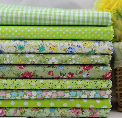 One PCS Cotton Fabric Pre-Cut Cotton cloth Fabric for Sewing Green D22