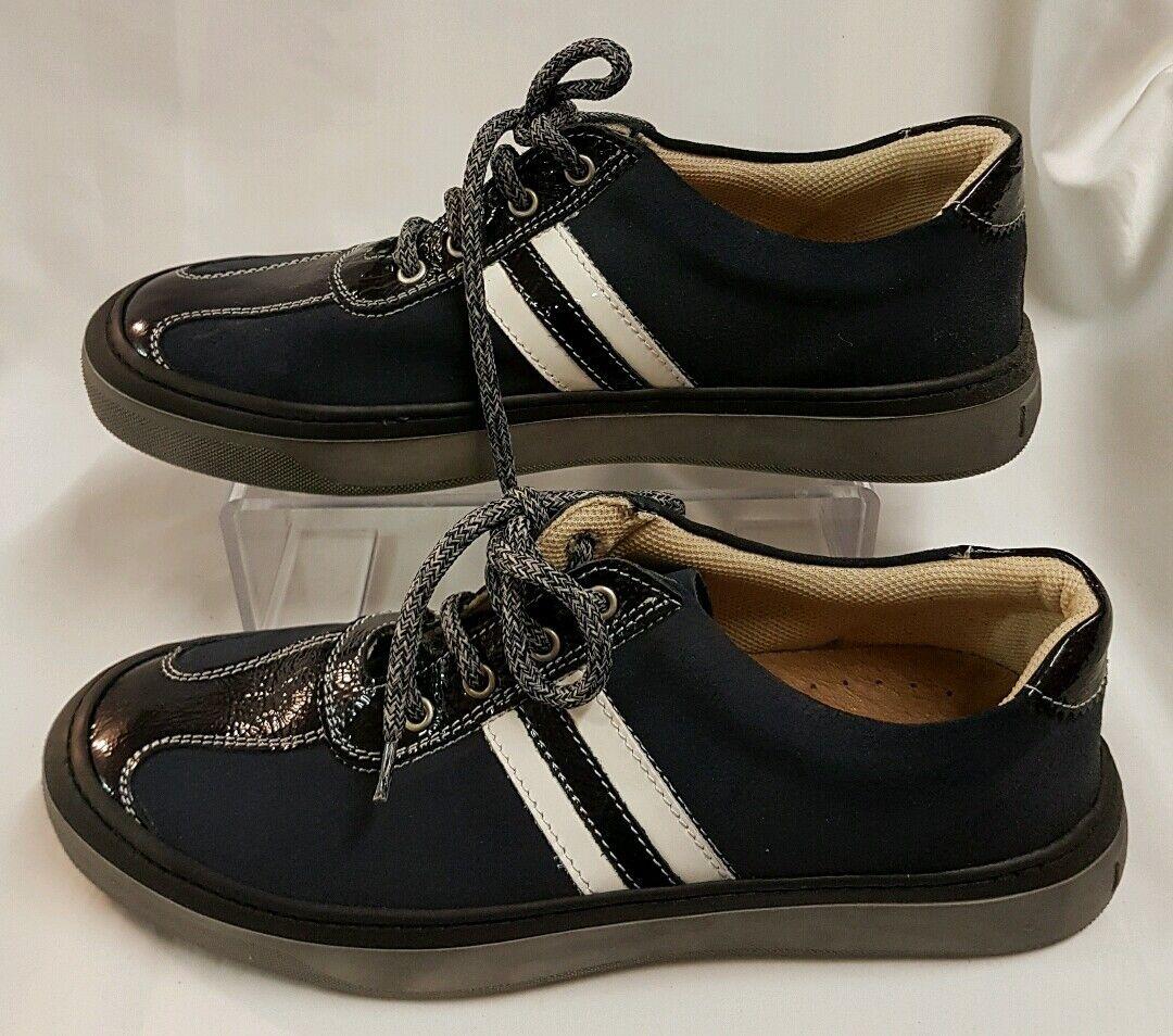 Schuhe Herren Sneaker Turnschuhe Blau Gr 44 (45) Made in Italy