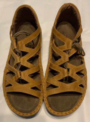 NAOT Yarrow Wedge Sandal Oily Dune Nubuck Leather