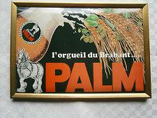 RARE ancienne plaque publicité bière PALM