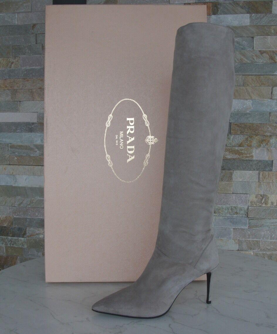 Luxus Prada Stiefel Gr Bimsstein 36 Stiefel Schuhe Schuhes Bimsstein Gr 1W101F NEU 2df767