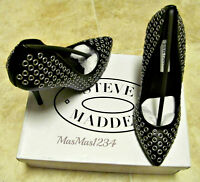 Steve Madden Grommit Womens Black Pumps Heels Shoes Size 6.5 Fast Shipping
