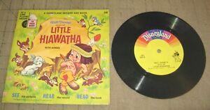 1968 LITTLE HIAWATHA Book & Record Set - Disneyland 33&1/3 Long Playing Record