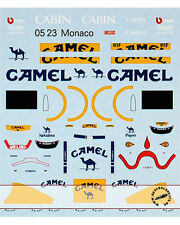 1/43 FILL IN & TRANS DECAL LOTUS 100T NAKAJIMA PIQUET for KYOSHO