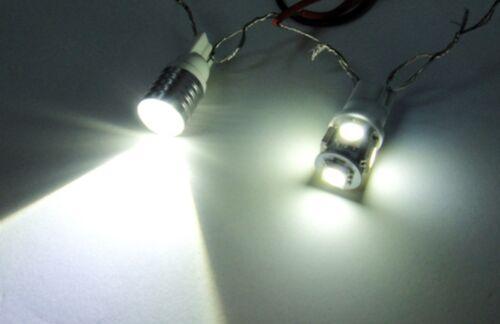 HIGH POWER PREMIUM White LED ultra Side Light Upgrade Xenon Bulbs canbus 501 W5W