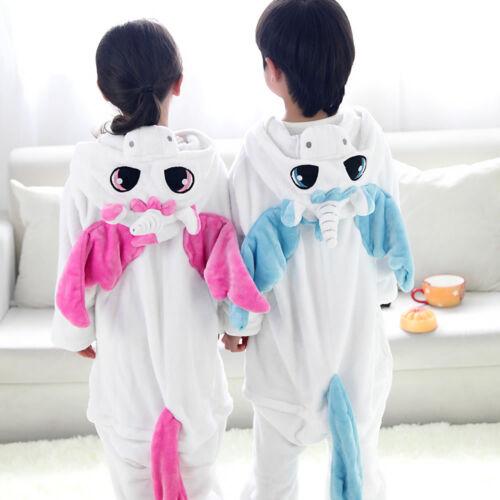 Pigiama Kigurumi Costume Unicorn festa Adulti Animali Tuta Bambini Flanella