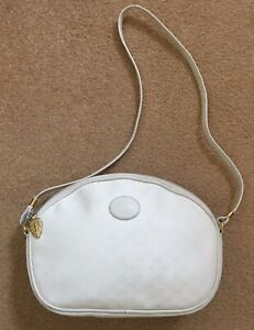 71d4b03f3a5 Image is loading AUTHENTIC-VINTAGE-WHITE-GUCCI-BAG-ZIPPER-CHARM-ATTACHED-