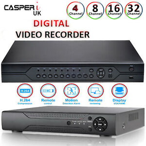 CCTV-DVR-4-8-16-Hybrid-Channel-AHD-1080P-Video-Recorder-HD-1080P-VGA-HDMI-BNC-UK