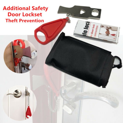 Portable Inside Door Lock Additional Safety Theft Prevention Hotel Home Travel