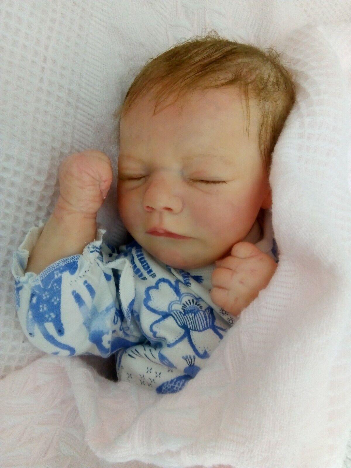 Realborn Bountifu baby Brooklyn reborn doll by Perrywinkles UK Artist with C.O.A