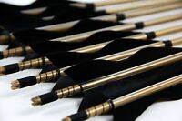 """12pk Bamboo Arrows Shafts 28""""-33"""" Hunting 11/32 Self Nock Points For Recurve Bow"""
