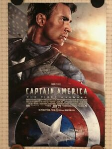 Original Marvel Captain America The First Avenger 2011 Ds Theatrical Poster Ebay