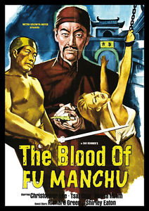 THE-BLOOD-OF-FU-MANCHU-Christopher-Lee-riproduzione-film-POSTER