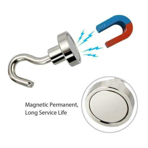 Strong Mini Magnetic Circular Hook Hanger Magnet Linked Home Wall Hold U0S2