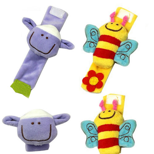 Attractive Lovely Soft Baby Wrist Rattle Toy Hands Finder Bee /& Sheep UV