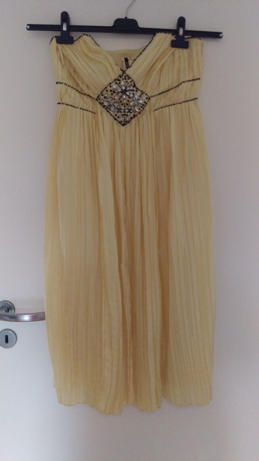 Oasis Faltenkleid Fest Damenkleid 100 %  Seide Größe 36 festlich edel Kleid