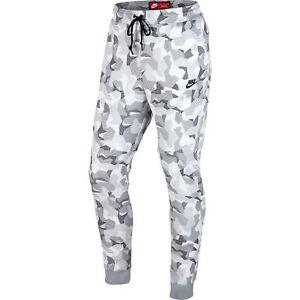 Details about NIKE Men's Sportswear Tech Fleece White & Gray Camo Joggers Size Small NWT