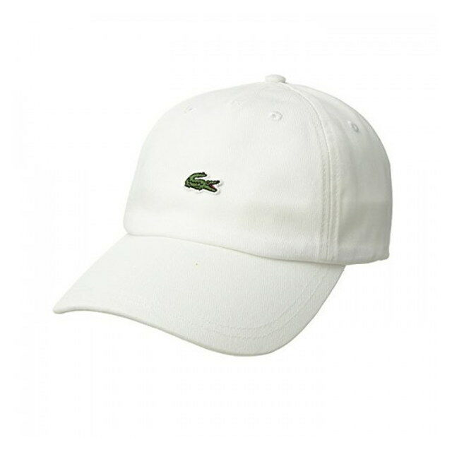 30b24b41b Lacoste Mens Small Croc Strapback Dad Hat White 1sz