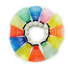 E1D2 12pcs Colorful Badminton Balls Shuttlecocks Sport Products Train Supplies